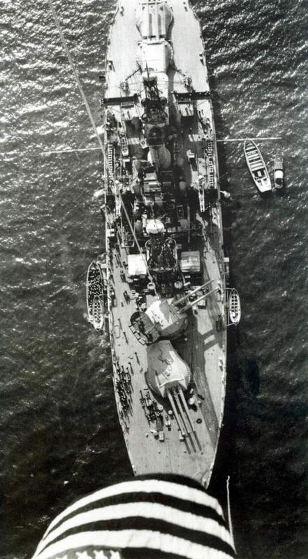 Vista Aérea del USS Nevada BB-36, en Noviembre de 1918