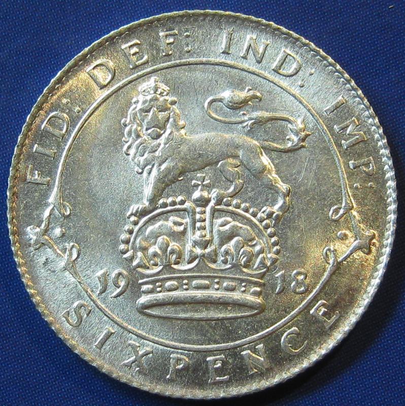 1918 Sixpence
